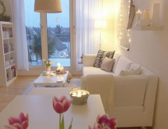 Candles and Flowers always make a room feel fresh and inviting.
