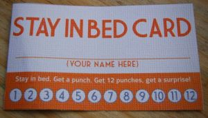 Stay In Bed Card